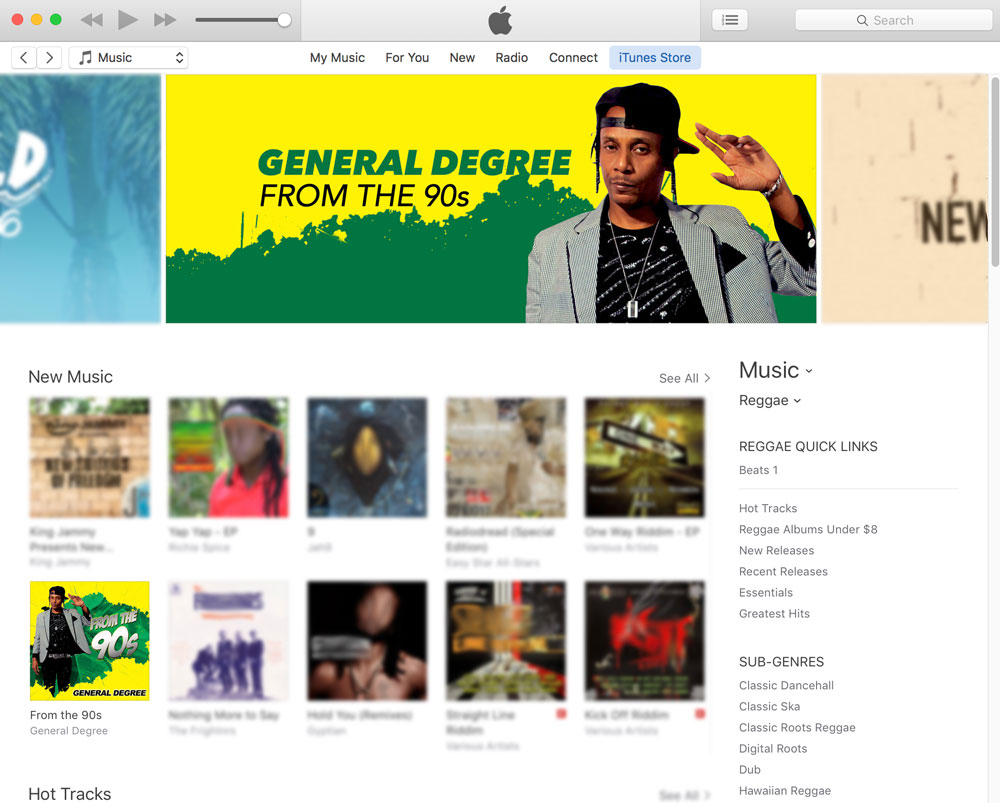 From The 90s Recieves Top Banner on iTunes US Reggae Section