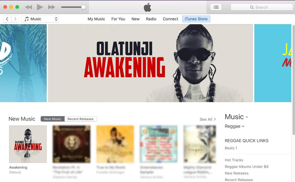 iTunes U.S. Reggae Top Banner